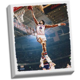 "Steiner Sports Philadelphia 76ers Julius Erving Dunk 22"" x 26"" Stretched Canvas"