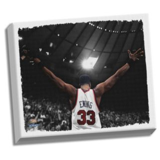 """Steiner Sports New York Knicks Patrick Ewing Arms Outstretched 22"""" x 26"""" Stretched Canvas"""