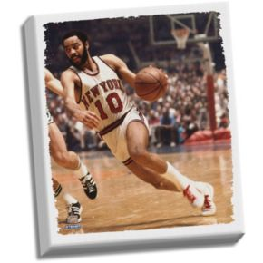 "Steiner Sports New York Knicks Walt Frazier 22"" x 26"" Stretched Canvas"