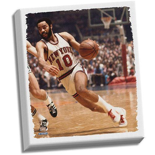 Steiner Sports New York Knicks Walt Frazier 22 x 26 Stretched Canvas