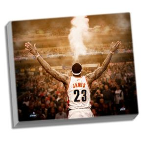 "Steiner Sports Cleveland Cavaliers LeBron James ""Powder"" Back View 22"" x 26"" Stretched Canvas"