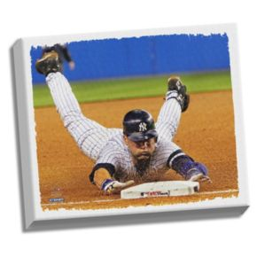 "Steiner Sports New York Yankees Derek Jeter Dive 22"" x 26"" Stretched Canvas"