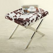 HomeVance Faux Cow Bastian Stool