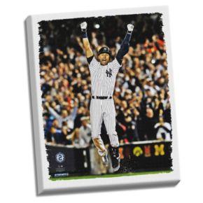 """Steiner Sports New York Yankees Derek Jeter Final Yankee Moment 22"""" x 26"""" Stretched Canvas"""