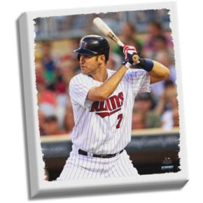 "Steiner Sports Minnesota Twins Joe Mauer 22"" x 26"" Stretched Canvas"