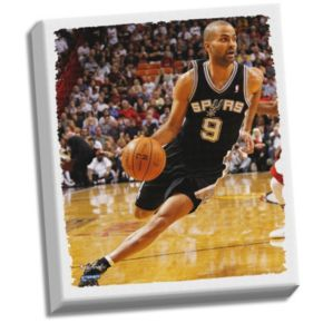 "Steiner Sports San Antonio Spurs Tony Parker ""Drive To Basket"" 22"" x 26"" Stretched Canvas"