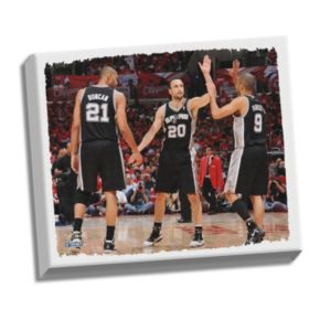 "Steiner Sports San Antonio Spurs Tony Parker ""Big Three High Five"" 22"" x 26"" Stretched Canvas"