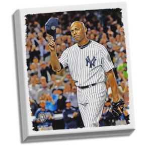 """Steiner Sports New York Yankees Mariano Rivera Final Game Tip Cap 22"""" x 26"""" Stretched Canvas"""