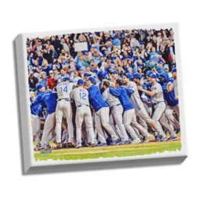 "Steiner Sports Kansas City Royals Wild Card Berth Celebration Sept 26, 2014 22"" x 26"" Stretched Canvas"