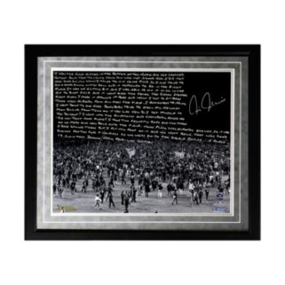 "Steiner Sports New York Yankees Chris Chambliss 1976 ALCS Walk-Off Home Run Facsimile 16"" x 20"" Framed Metallic Story Photo"