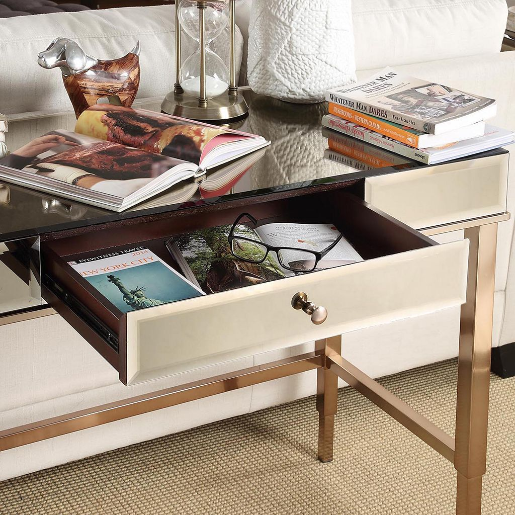 HomeVance Eleos Mirrored Desk