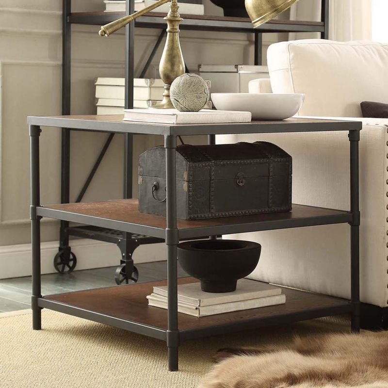 HomeVance Fallbrook End Table, Brown