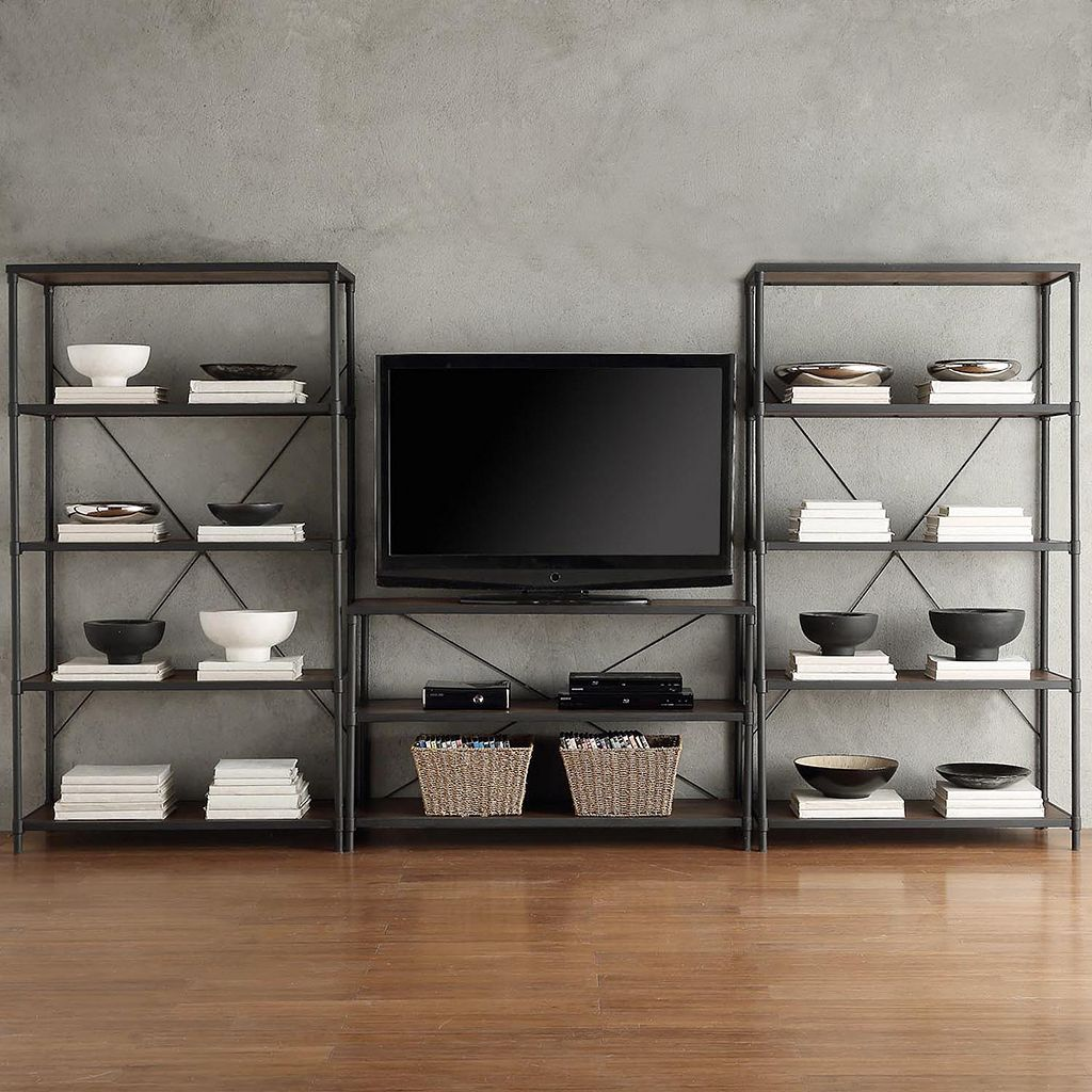 HomeVance Fallbrook Wide Bookshelf