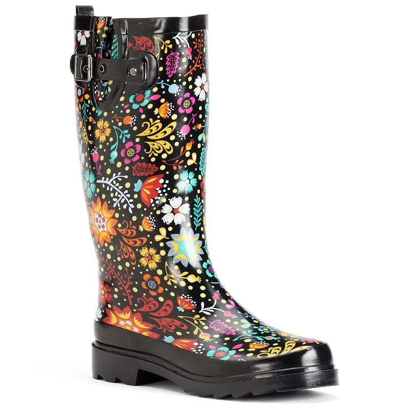 Slip On Rain Shoes Floral Western Chief