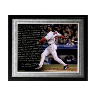 "Steiner Sports Boston Red Sox Johnny Damon Reverse the Curse Facsimile 16"" x 20"" Framed Metallic Story Photo"