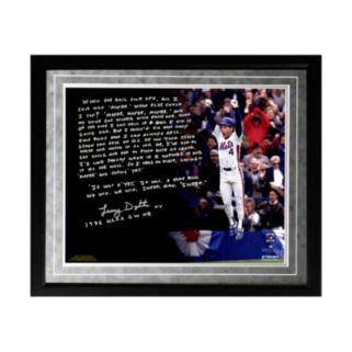 "Steiner Sports New York Mets Lenny Dykstra 1986 NLCS Walk-Off Home Run Facsimile 16"" x 20"" Framed Metallic Story Photo"