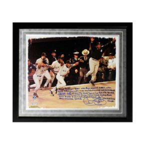 "Steiner Sports New York Yankees Cecil Fielder 1996 World Series Facsimile 16"" x 20"" Framed Metallic Story Photo"