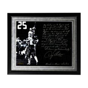 "Steiner Sports Boston College Eagles Doug Flutie Hail Mary Facsimile 16"" x 20"" Framed Metallic Story Photo"