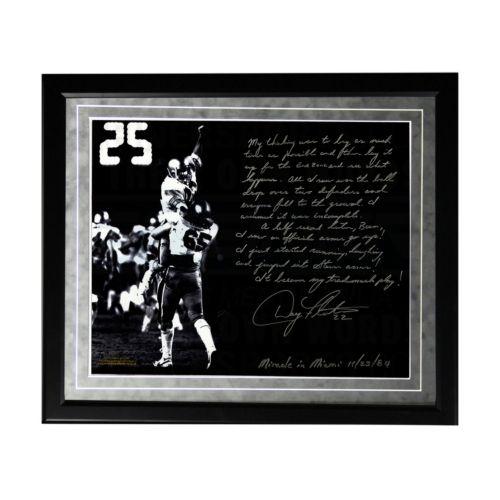 Steiner Sports Boston College Eagles Doug Flutie Hail Mary Facsimile 16 x 20 Framed Metallic Story...
