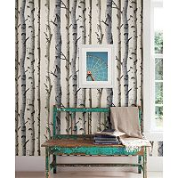 Brewster Home Fashions Irvin Gray Birch Tree Wallpaper