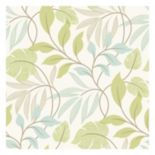 Beacon House Eden Green Modern Leaf Trail Wallpaper
