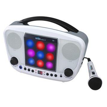 Karaoke Night Portable CD Karaoke Machine with Light Show
