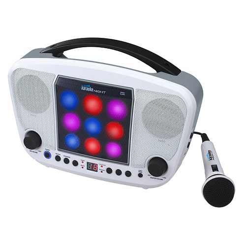 Karaoke USA Portable CD Karaoke Machine with Light Show