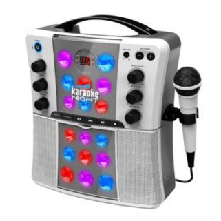 Karaoke Night Portable CD+G Karaoke Machine with Light Show