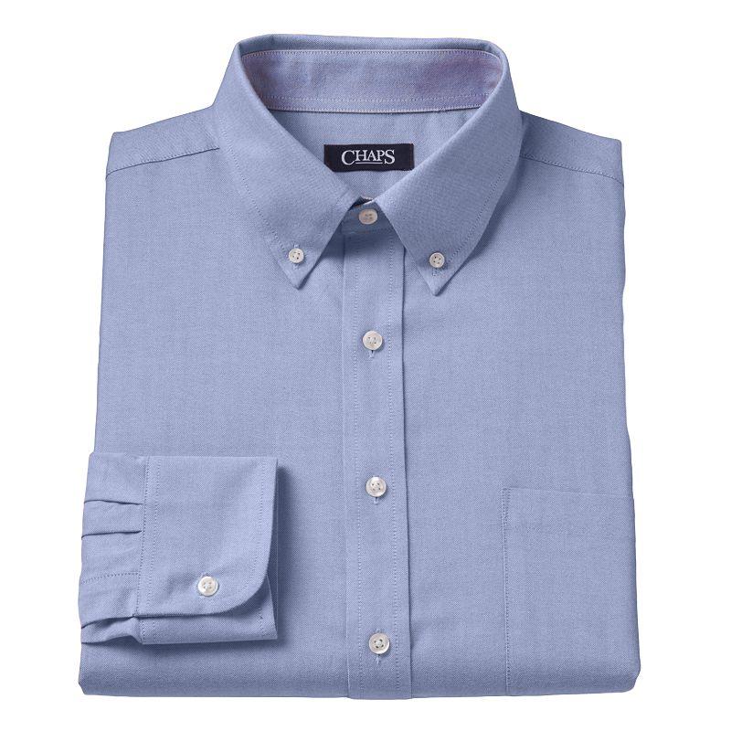 Big & Tall Chaps Classic-Fit Solid Oxford Dress Shirt