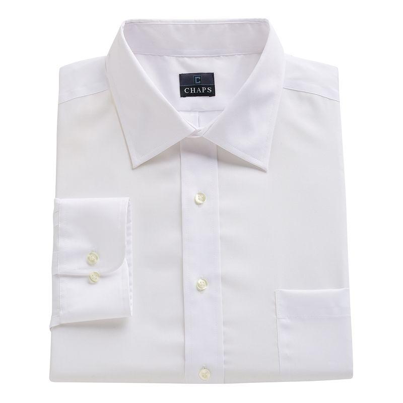 Big & Tall Chaps Classic-Fit Solid No-Iron Dress Shirt