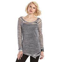 Women's Rock & Republic® Marled Open-Work Sweater