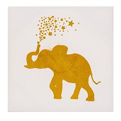Monika Strigel Gold Glitter Happy Elephant