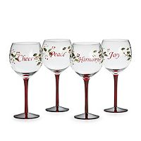 Pfaltzgraff Winterberry 4-pc. Wine Glass Set