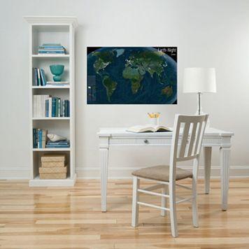 WallPops ''Earth At Night'' Map Wall Decal