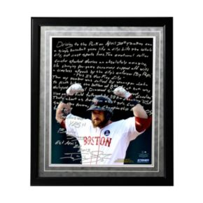 "Steiner Sports Boston Red Sox Jonny Gomes Boston Strong Facsimile 16"" x 20"" Framed Metallic Story Photo"