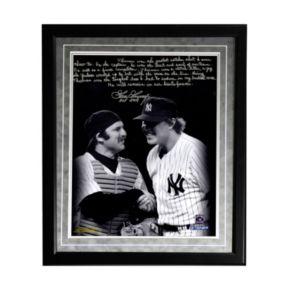 "Steiner Sports New York Yankees Goose Gossage on Thurman Munson Facsimile 16"" x 20"" Framed Metallic Story Photo"