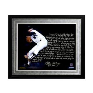 "Steiner Sports New York Yankees Goose Gossage On Closing Facsimile 16"" x 20"" Framed Metallic Story Photo"