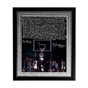 "Steiner Sports Houston Cougars Elvin Hayes Being Big E Facsimile 16"" x 20"" Framed Metallic Story Photo"