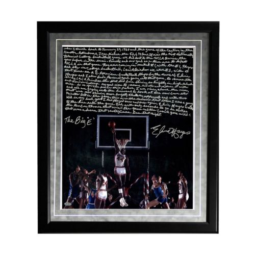 """Steiner Sports Houston Cougars Elvin Hayes Being Big E Facsimile 16"""" x 20"""" Framed Metallic..."""