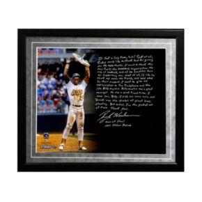 "Steiner Sports Oakland Athletics Rickey Henderson Stolen Base Record Facsimile 16"" x 20"" Framed Metallic Story Photo"