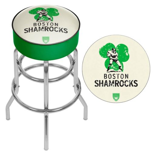 Boston Shamrocks Padded Swivel Bar Stool