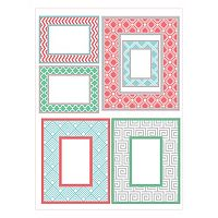WallPops 6-piece Geo Color Frame Wall Decal Set