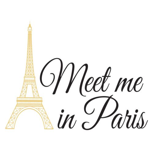 "WallPops ""Meet Me In Paris"" Quote Wall Decal"