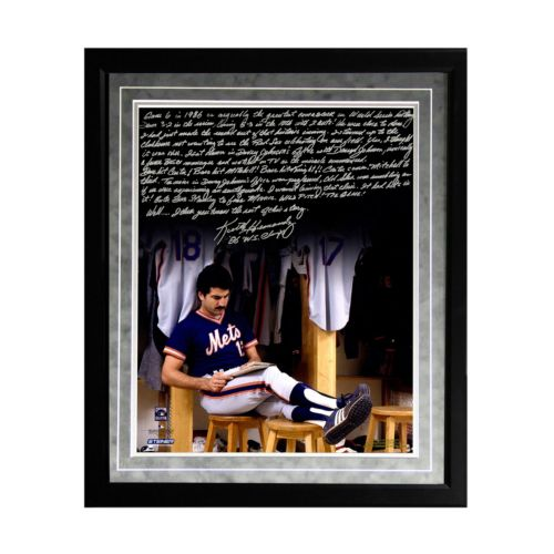 "Steiner Sports New York Mets Keith Hernandez 1986 Buckner Game Facsimile 16"" x 20"" Framed ..."