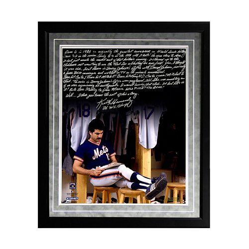 Steiner Sports New York Mets Keith Hernandez 1986 Buckner Game Facsimile 16 x 20 Framed Metallic S...