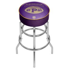 Portsmouth Spartans Padded Swivel Bar Stool