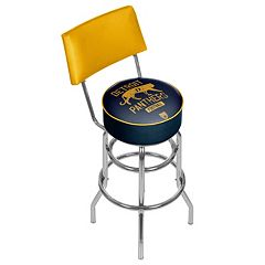 Detroit Panthers Padded Swivel Bar Stool with Back
