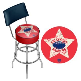 Hollywood Rangers Padded Swivel Bar Stool with Back