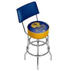 Philadelphia Bell Padded Swivel Bar Stool with Back