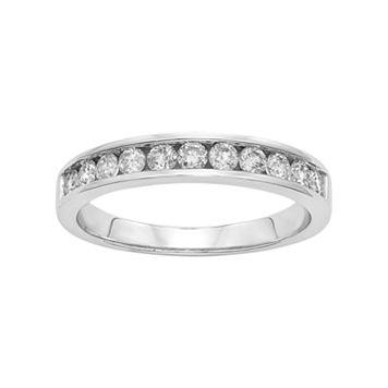 1/2 Carat T.W. Diamond Platilite Anniversary Ring